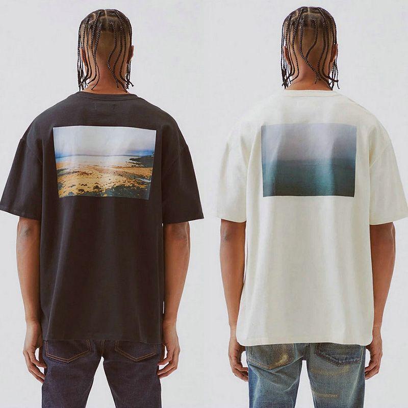 Erkek Grafik T-Shirt Boxy Photo CA Sınırlı Rahat Kısa Kollu T Shirt Sokak Hip Hop Erkek Kadın Yaz Boy Tee