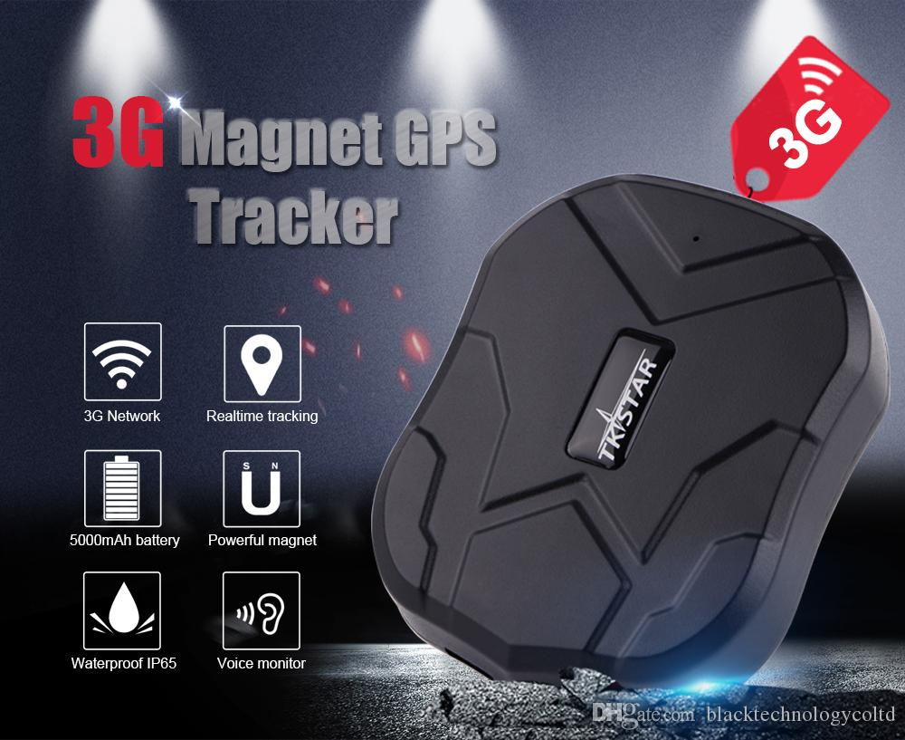 WCDMA HSDPA에 3G 방수 자동차 GPS 추적기 TK905-3G 자석 자동차 GPS 로케이터 실시간 수명 / UMTS / EDGE / GPRS / GSM 무료 APP