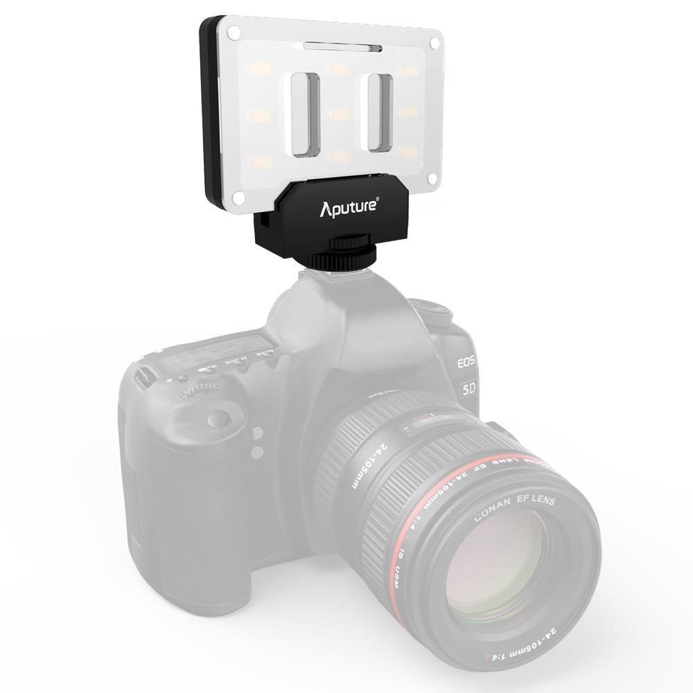 Aputure Amaran AL-M9 미니 TLCI / CRI 95 + LED 비디오 라이트에-카메라 캐논 사진 조명 채우기 빛, 니콘, 소니, DSLR 카메라