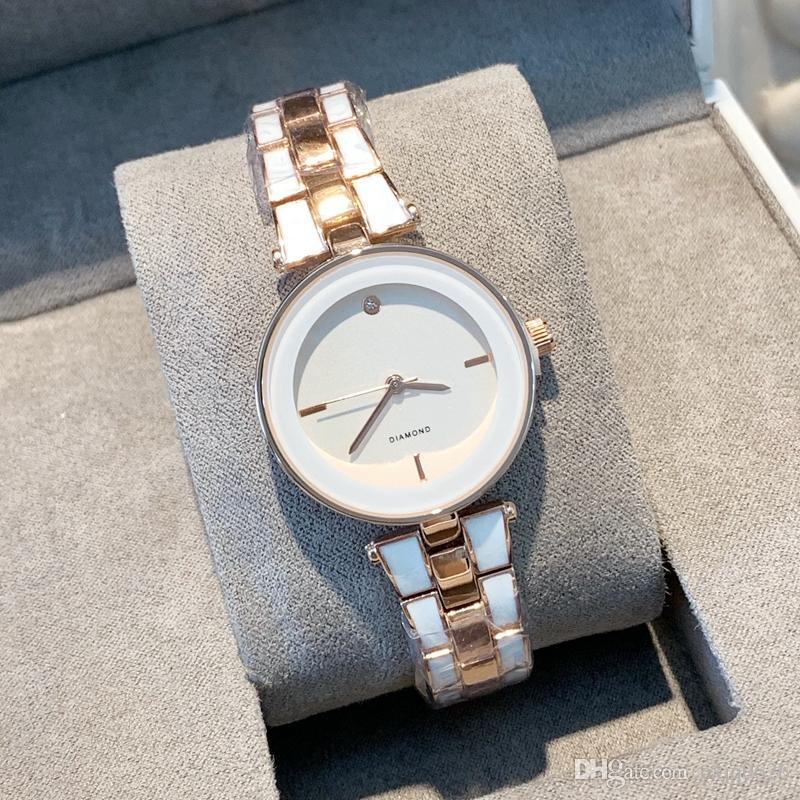 2019 Sıcak satmak İyi moda saati popüler kadın Tablo Kuvars AK Bayan günlük güzel bir saat Lüks Elbise en kaliteli saatler izle kol saatleri