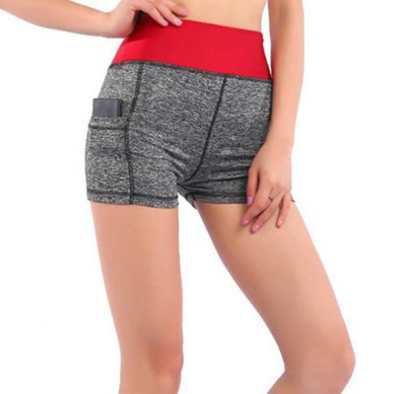 Pantalones cortos para mujer Verano 2019 Cintura elástica Pantalones cortos deportivos Impreso de secado rápido para mujeres pantalones cortos deportivos
