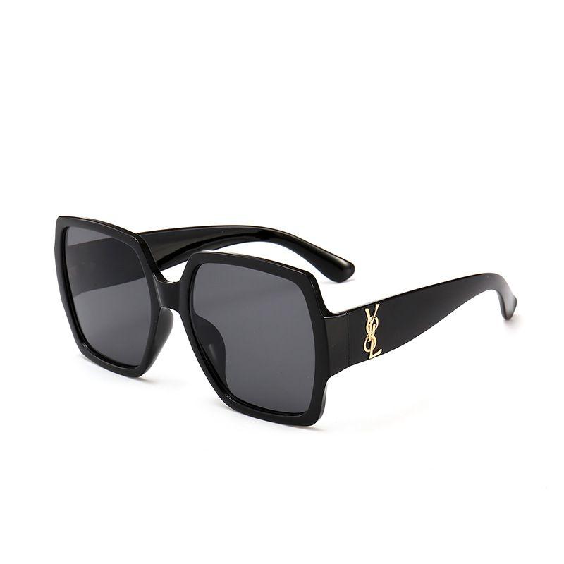 Art und Weise neu 66YSL heiße Männer und Sonnenschirm große Box Vintage Brief Sonnenbrille der Frauen
