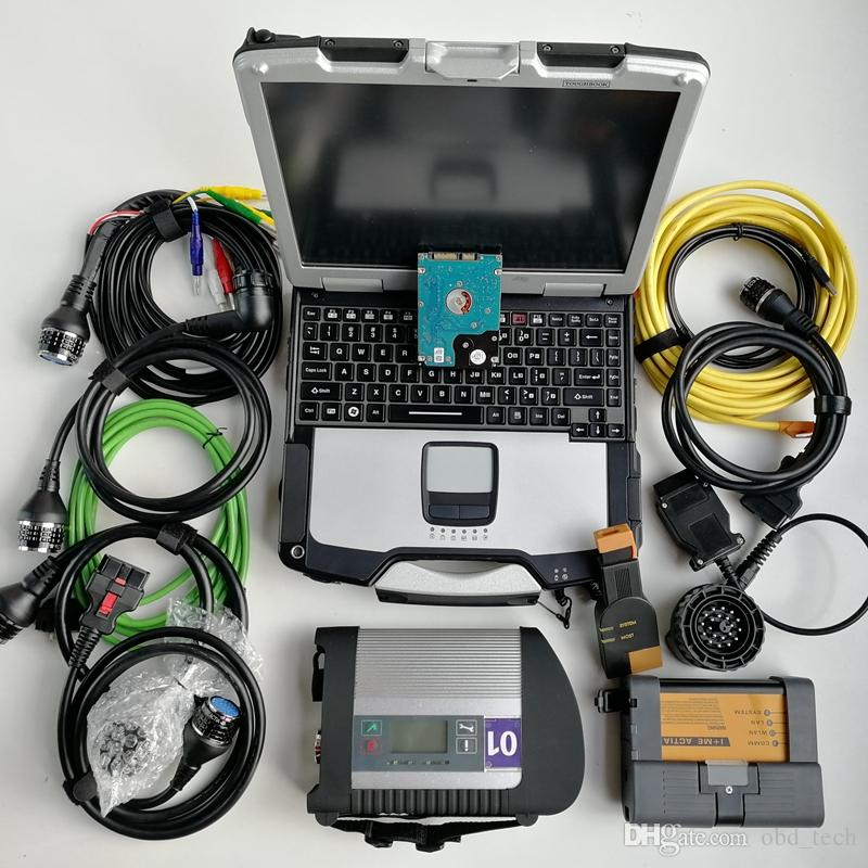 Tools for BMW Icom A2 B C MB star C4 SD connect 4 wifi compact 1TB HDD V03.2021 Soft-ware Used laptop CF-30