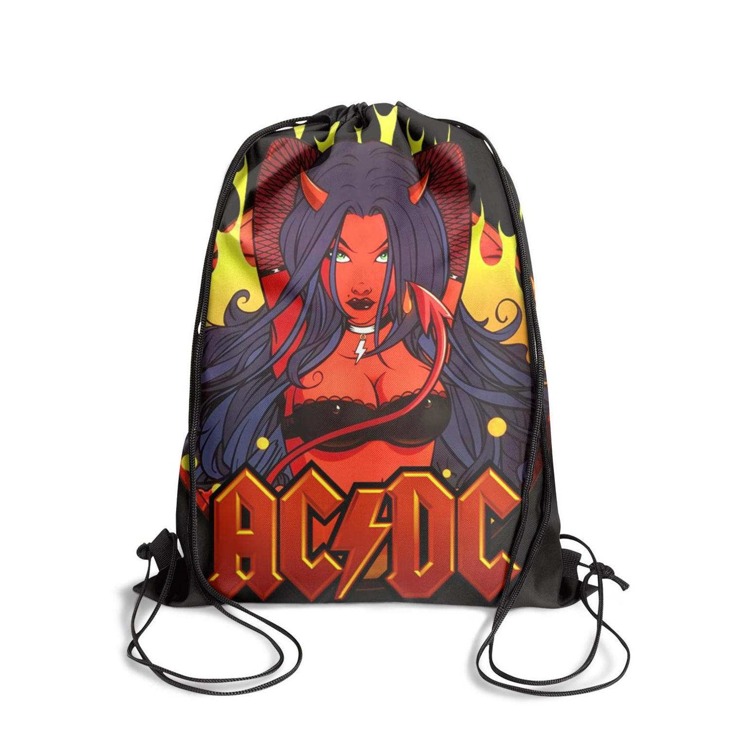 Ac dc Let There Be Rock moiveFashion sports belt backpack, design crazy limited edition reusable string package, suitable for outdoor