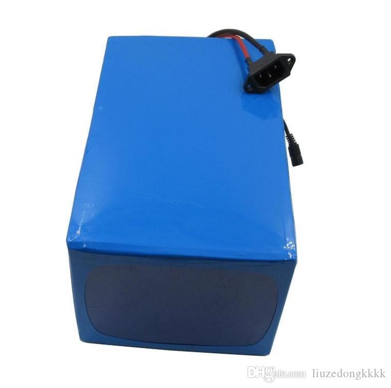 Yüksek Kaliteli 1000 W PVC Kasalı Elektrikli E Bisiklet Lityum Pil 48 V 21Ah S amsung ile 3.7 V 3000 mah hücre 30A BMS + 54.6 V 2A Şarj