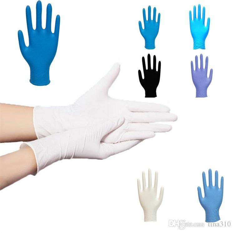 Luvas novas de limpeza caseiras elásticas de cor azul/branca/preta descartáveis luvas de protecção ambiental luvas de trabalho de uso doméstico resistentes ao desgaste 7049