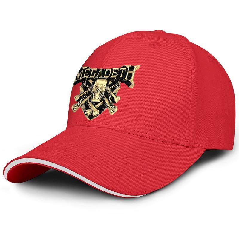 Tricko damske megadeth logo noir homme et femme sandwich chapeau conception de baseball conception chapeau personnalisé mode cool baseball mignon casquette unique