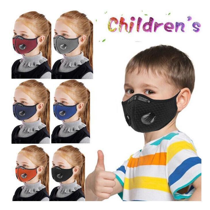 Spor Yüz Çocuklar Doğa Sporları Toz geçirmez Nefes Yıkanabilir Koruyucu Bisiklet Maske Aktif Karbon Bisiklet Maske CCA12402 120pcs Maske