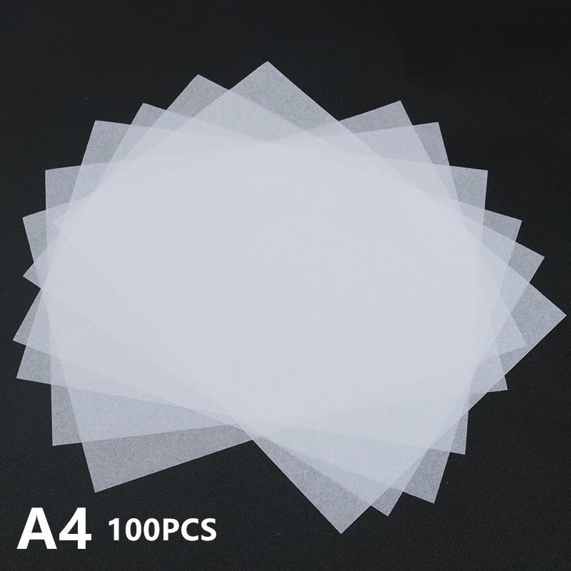 얇고 반투명 한 드로잉 스틱 피규어 티슈 페이퍼 과일 포장 중국어 문자 용지 빈 카피 북 200 개 / 세트