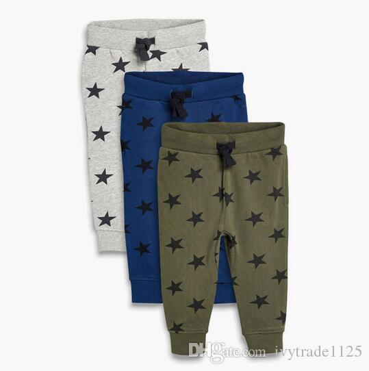 Vêtements enfants garçon Pantalons Pantalons Automne Hiver velours étoiles plein pantalon Imprimer tout-match 100% pantalon en coton doux