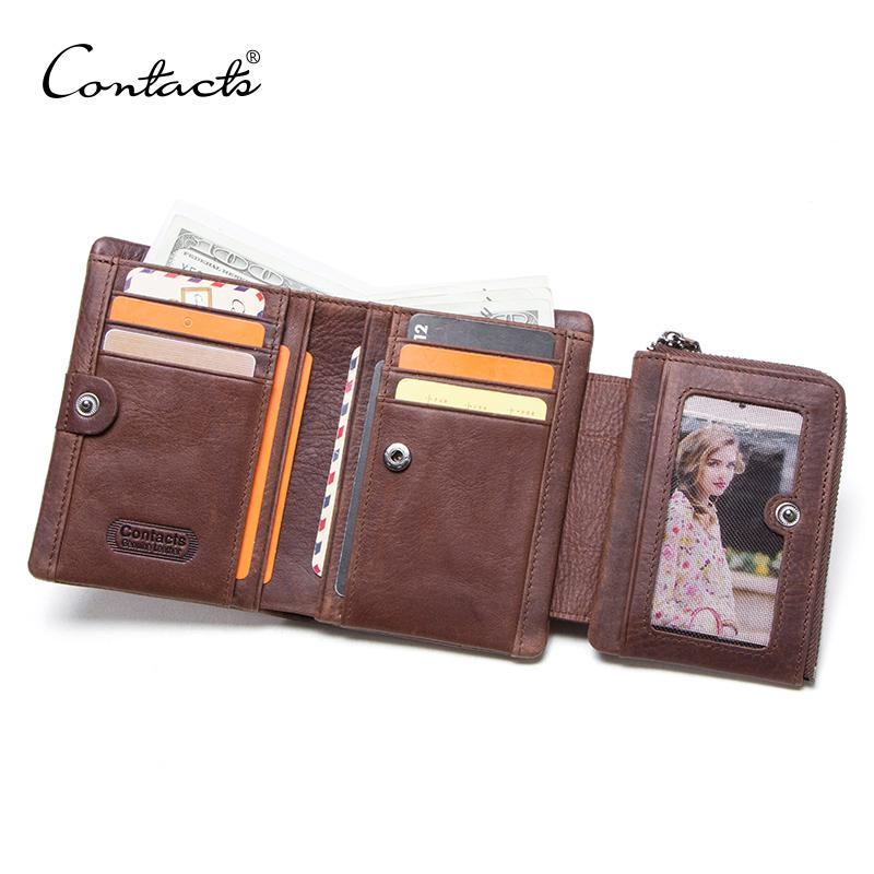 Wallet With Genuine Leather Male Vintage Short Men's Wallets Horse Coin Crazy Wallet Small Pocket Man's Purse Cuzdan Ptjxb