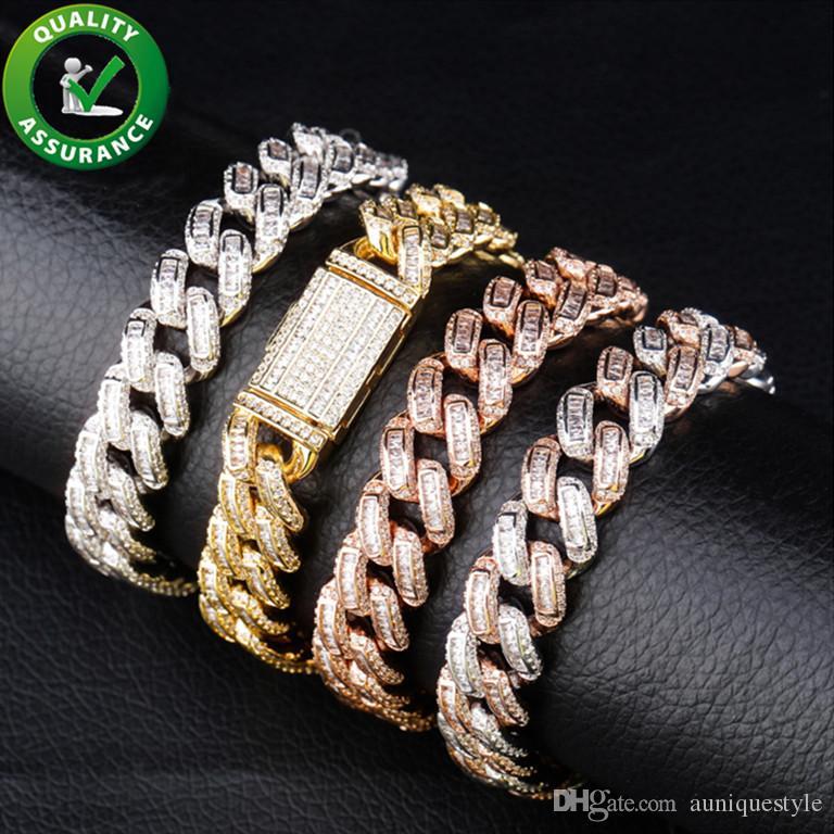 Hip Hop Mens Jewelry Bracelets Iced Out Diamond Tennis Chains Bracelet Luxury Designer Bangle Men Cuban Link Chain Rapper Hiphop Accessories