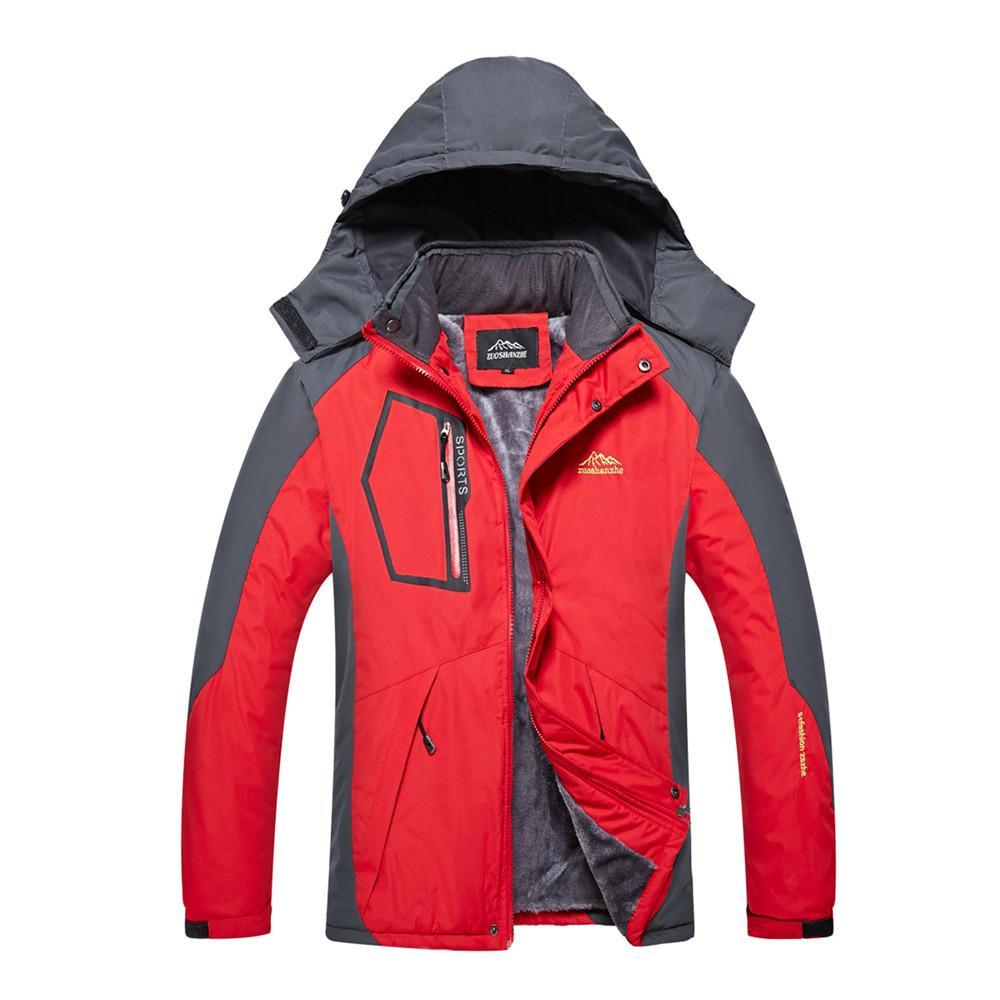 Winter Jacket Men Outdoor Jacket Waterproof Warm Coats Male Casual Thicken Velvet Jacket Plus Size Mens Outdoor Sports Coat