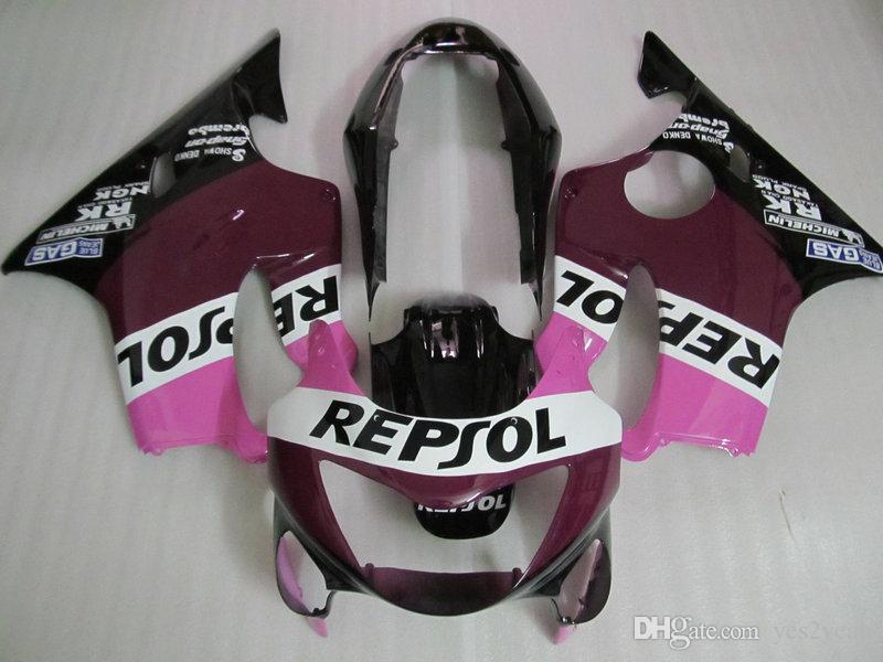 Kit corpo carena iniezione per HONDA CBR600F4 99 00 CBR600 F4 1999 2000 Carrozzeria CBR 600F4 CBR 600 F4 Set carenature rosa + regali HA01