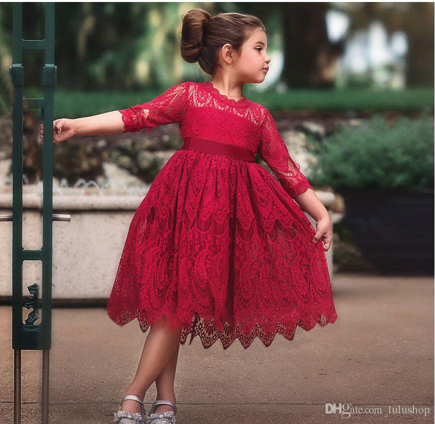 Küçük Kız Törenleri Elbise Bebek Çocuk giyim Tutu Çocuklar Kızlar için Elbiseler Giysileri Düğün Kıyafeti Vestidos Robe Fille