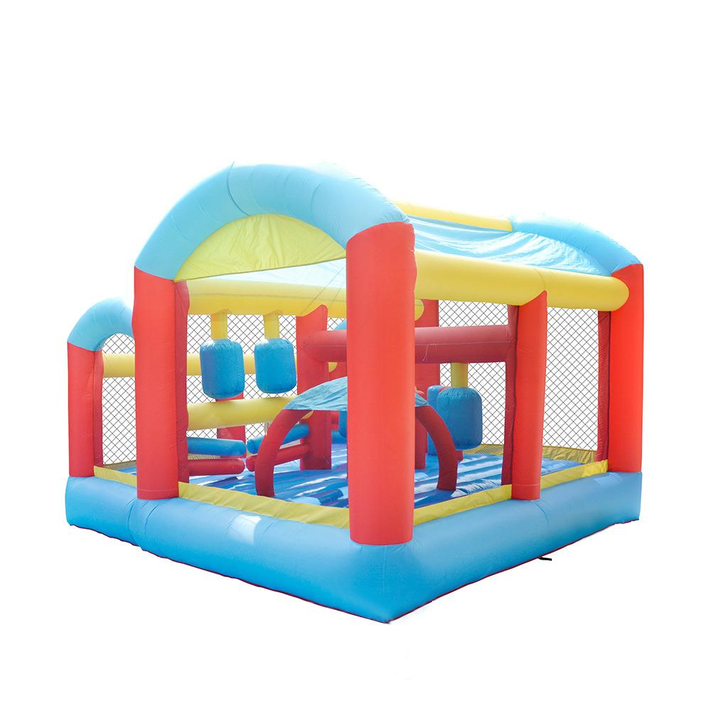 Inflatable Games Court Bounce House for Play Outdoor Sports Court for Family Garden Play Air Blower included