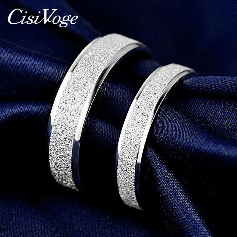 CisiVoge стерлингового серебра 925 Пара Кольца Promise Обручальное обручальное кольцо для женщин Мужчины любителей Пары Dropshipping F JRC01 SH190930