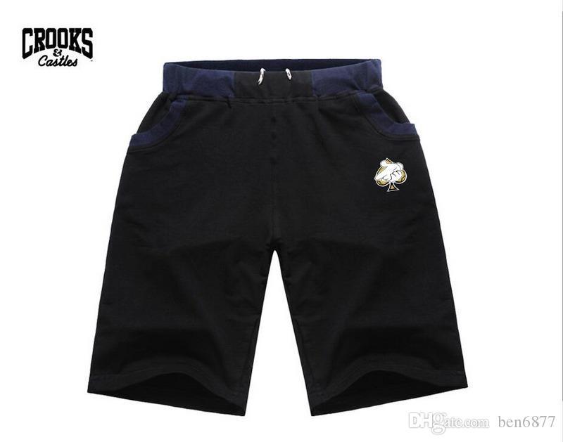 M5780 spedizione gratuita s-5xl NUOVO stile hip hop moda uomo cotone Shorts Elastico in vita Casual ginocchio lunghezza