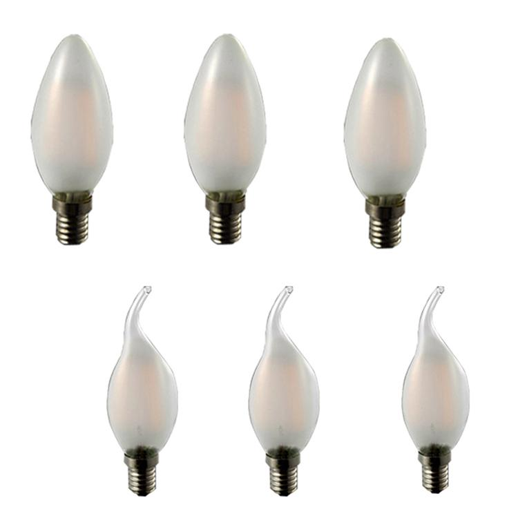 Lampadina a led Lampadina Luxbird Vintage Candela LED Light Filament Bulb B11 E12 3.5W caldo White Whitte bianco freddo