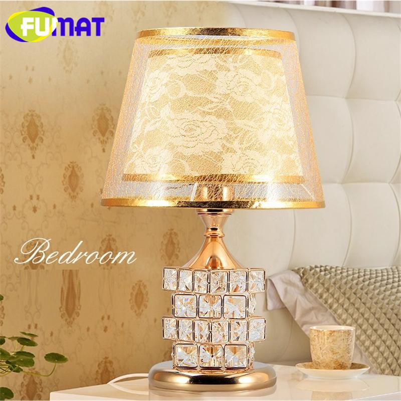 FUMAT Crystal K9 Rubik's Cube Table Lamp Romantic Remote Control Desk Lamp Ideas Luxury Bed Lamp Decorated Table LED lighting