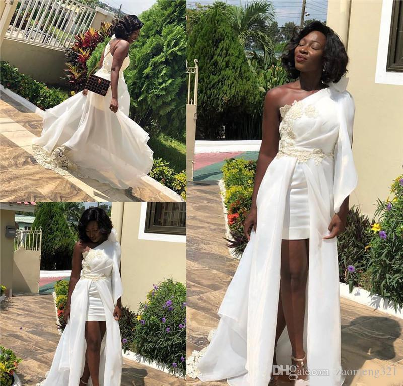 Afrique du Sud pas cher longue robes de soirée Dubaï une épaule Robes de bal femme Prêt à porter partie formelle Robes Plus Size Robe de Fiesta