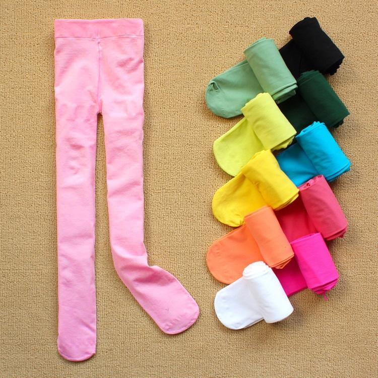 Baby girls velvet pantyhose girls dance stockings children ballet tights girls velvet candy color leggings free shipping in stock
