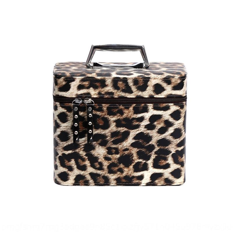 Portable fixed leopard print case large capacity multifunctional cosmetic bag waterproof cosmetic bag