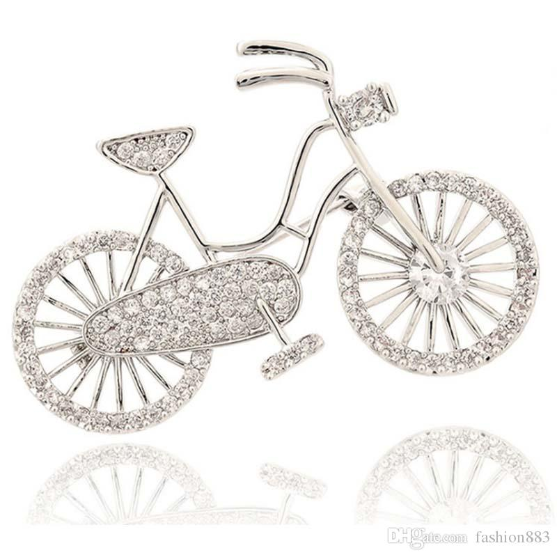 b23881ac6fb 2019 Custom Vintage Bicycle Bike Safety Pin Brooch Pin Ladies Crystal  Rhinestone Lovely Bike Lapel Pin Brooch Jewelry Accessory From Fashion883,  ...