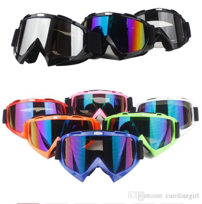Motocicleta de protecção Engrenagens Cruz flexível Helmet Máscara Facial Motocross Goggles ATV Dirt Bike UTV Óculos engrenagem Óculos
