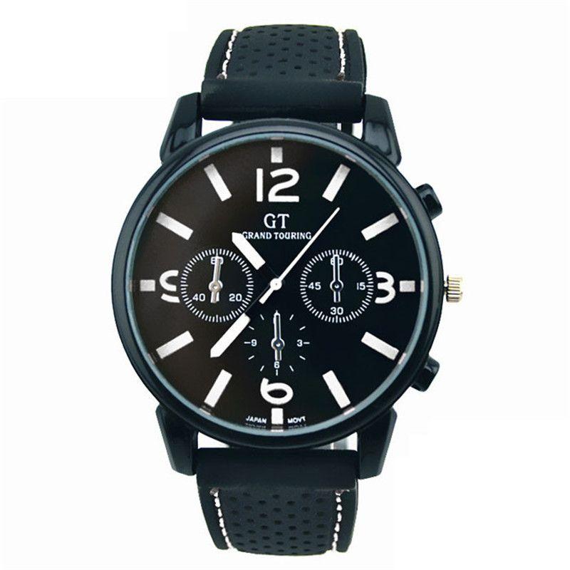 1PC Fashion Men Stainless Steel Sport fashion Cool Quartz Hours Wrist Analog Watch Military Sport Men Dress Fashion relojes