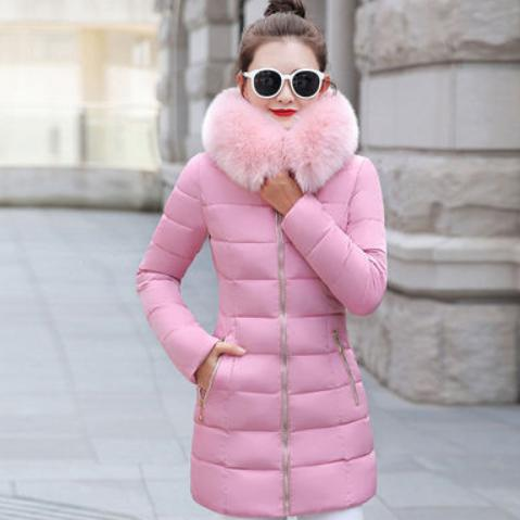 New 2020 Winter Jacket Women Coats hair collar Female Parka black Thick Cotton Padded Lining Ladies Outerwear 3XL AQ389
