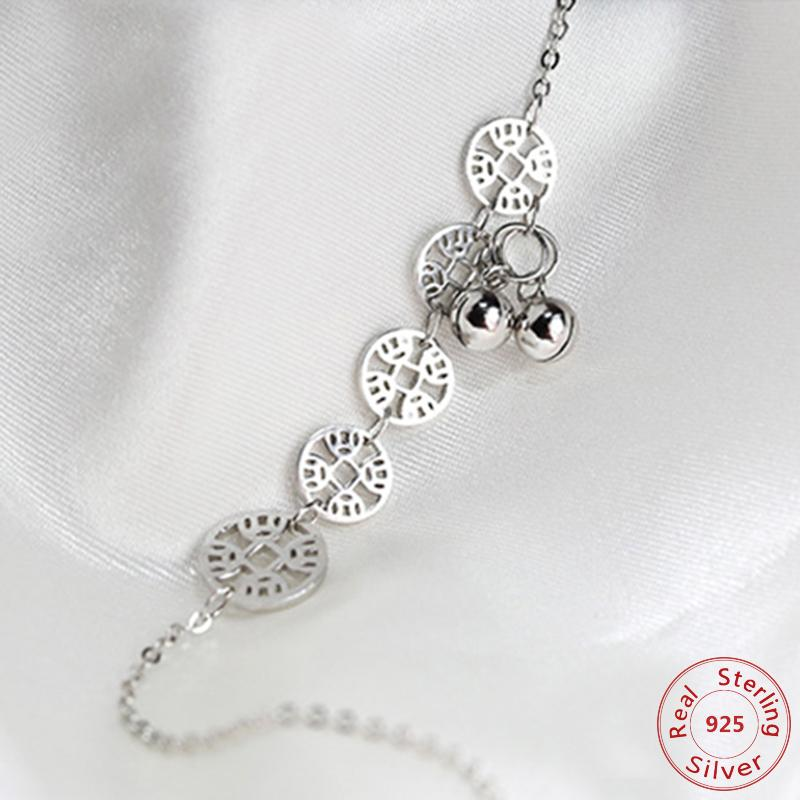 925 Sterling Small Cross Charm Anklets For Women Ankle Bracelet On The Leg Anklet Silver Foot Jewelry C19041101