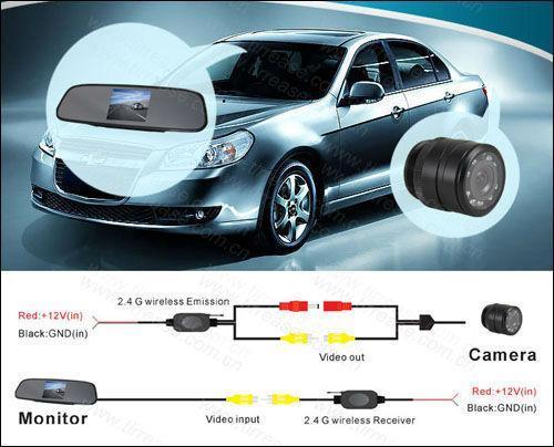Kablosuz Araç Dikiz Kamera Akıllı Park Asistanı Sistemi Pz602c -W 4 0,3 İnç 16: 9 Dijital Panel Kamera Pixal 648 * 488 Ücretsiz Epacke