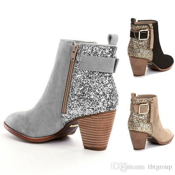 Preto Moda feminina Sexy Ankle Boots luxo Sapatos para Mulheres High Heel Inverno Austrália Mulher Designers Sapatinho Mulher Bottes inicialização