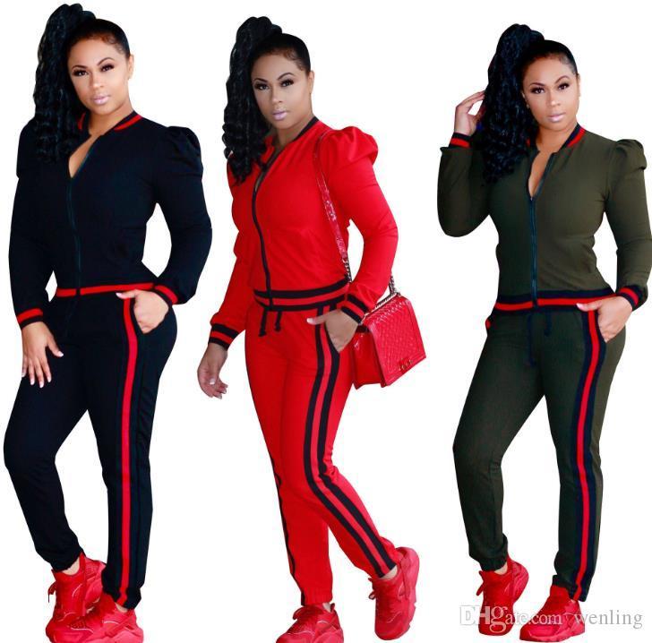 Deporte de las mujeres del chándal de sudaderas con capucha + pantalones 2 piezas Conjunto de la mujer traje de ahueca hacia fuera Solid chándales para mujer de color sudaderas Ropa Ropa