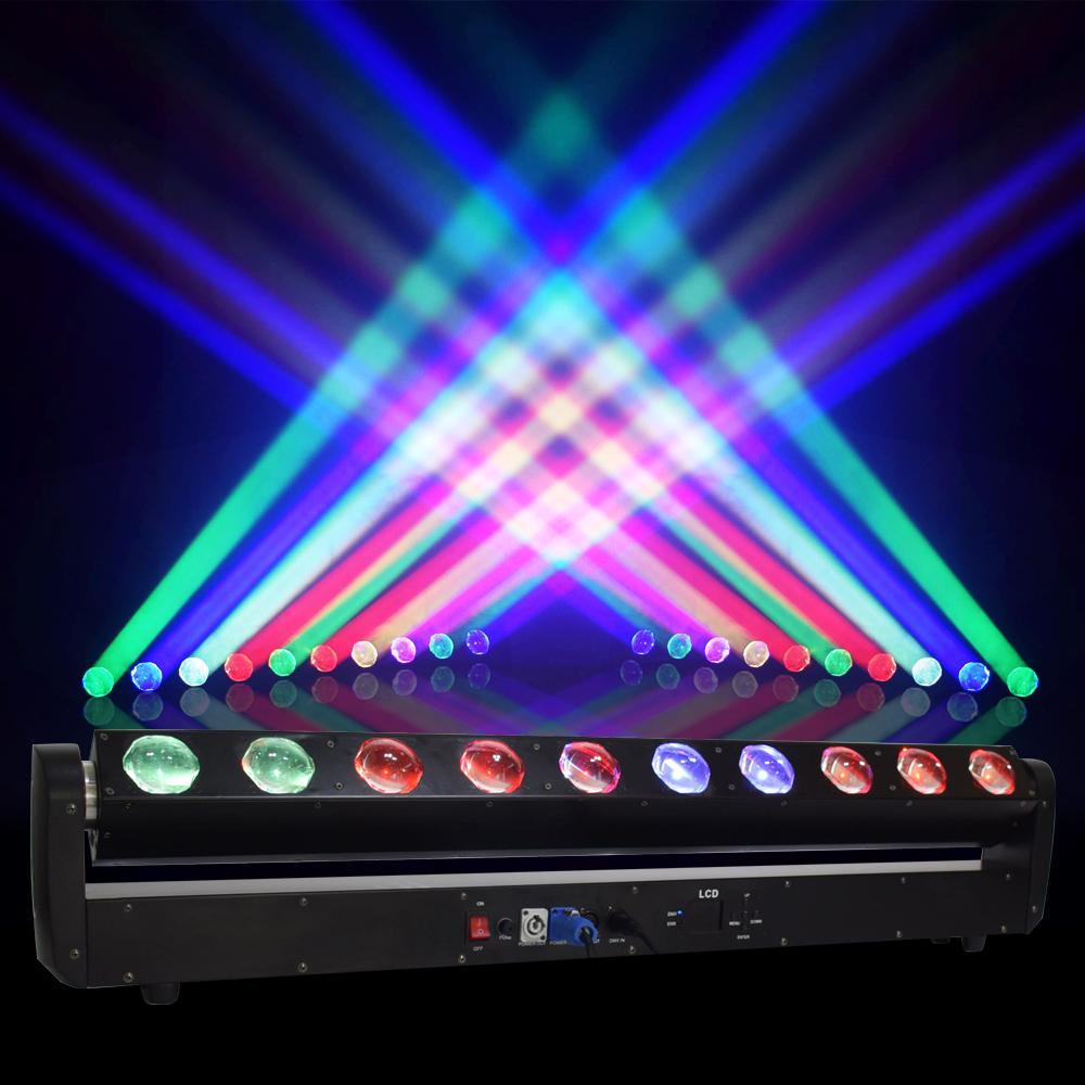 LED Bar feixe Movendo DJ Head Light RGBW 10x40W perfeito para Mobile Disco Partido Nightclub Dance Floor Bar