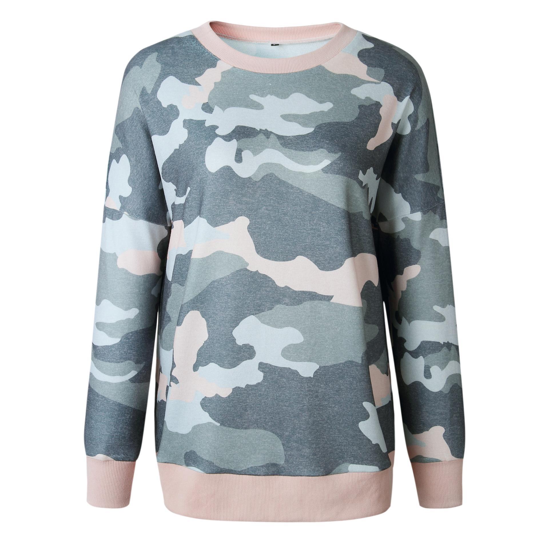 Neue Mode Persönlichkeit Herbst und Winter Mode gedruckt langärmelige Damen Top Guard 100233