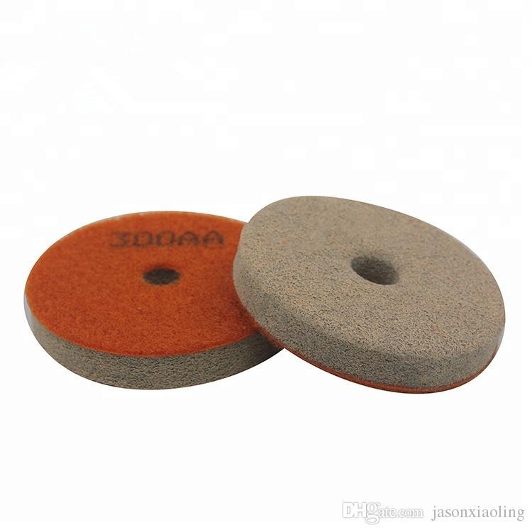 20 Pieces Abrasive Polishing Tools 3 Inch 4 Inch Sponge Polishing Pads Diamond Flexible Wet Polishing Disc for Granite Marble Floor