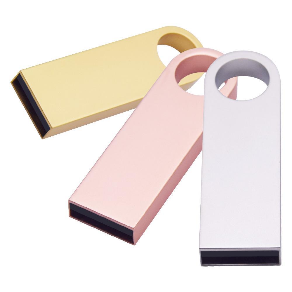 Wholesale usb 2.0 металлический ключ флэш-память USB палочка ручка привод 8 ГБ 16 ГБ 32 ГБ 64 ГБ 128 ГБ USB флэш-накопитель памятью рекламный рождественский подарок