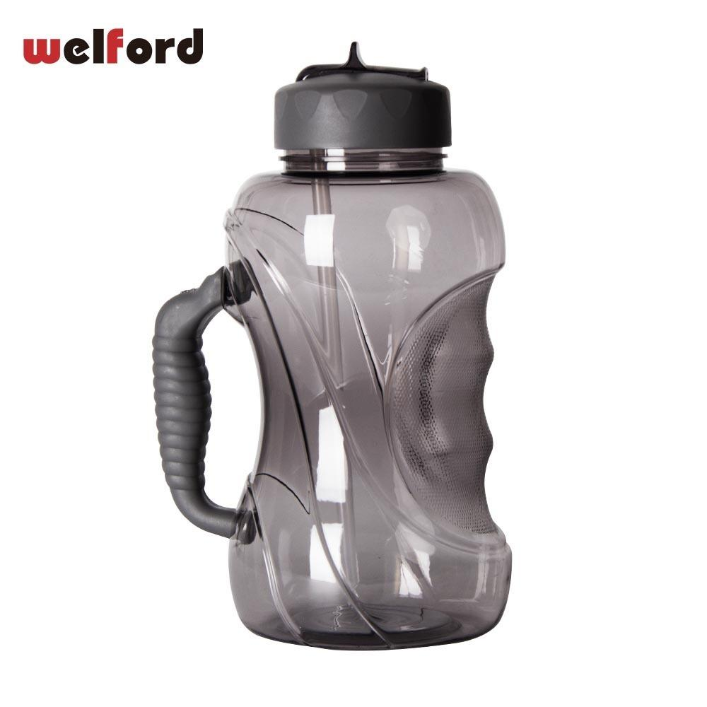 1500ml Large Capacity Water Bottle With Straw And Handle Leak-proof Cap Plastic Big Outdoor Sports Bpa Free Mug Cup Q190525