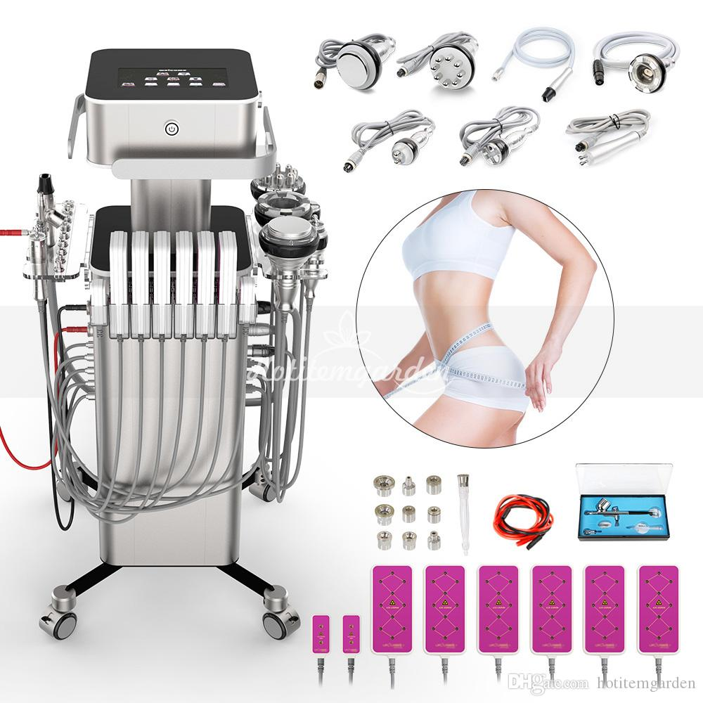 Profissional Cavitação 2.0 ultra-Fat Vácuo Remoção de elevação RF pele dermoabrasão BIO Microcurrent Lipo Máquina Slimming Laser