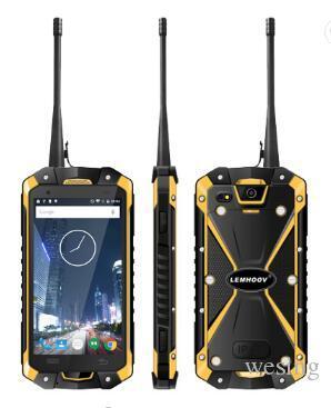 Desbloqueado 4,5 polegadas Octa Núcleo 3GB RAM 32GB ROM LEMHOOV V18 IP68 impermeável robusto 4G LTE telefone móvel esperto Walkie Talkie robusto Smartphone