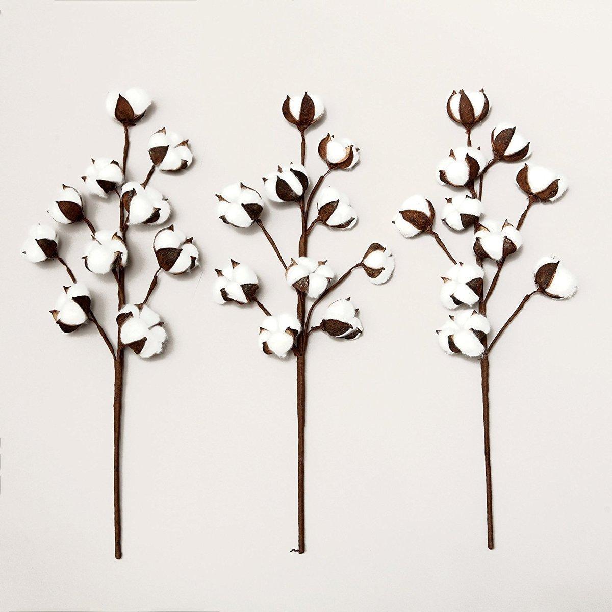 Branche Fleur De Coton acheter / artificielle fleur de coton unique branche 10 pétales 52cm  simulation fleur diy décoration de mariage pour la maison parti bureau  c18112601