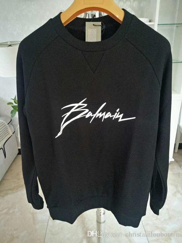 Designer Balmain Sweat Hommes Femmes Hommes Pull noir à manches longues Pull Marque Streetwear Mode Sweatershirt