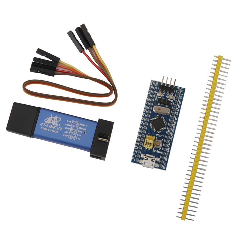 STM32F103C8T6 ARM STM32 minimi di sistema del bordo di sviluppo del modulo + ST-Link V2 Programmazione Unità STM8 STM32 Downloader