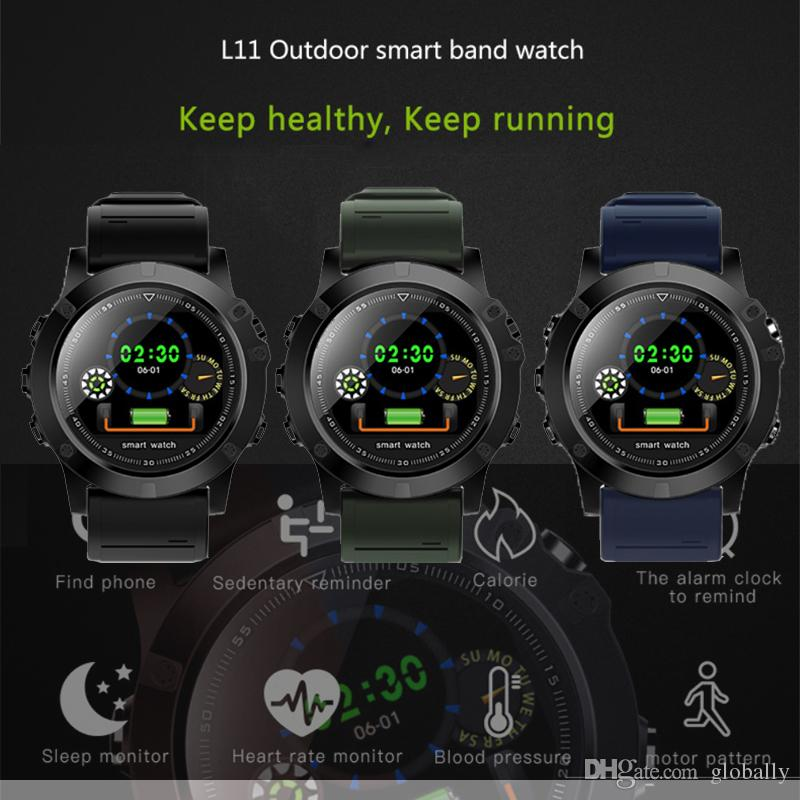L11 Smart Sports Watch HD Screen Button Control Wristband IP68 Waterproof With GPS SIM Camera Multiple Modes For Outdoor