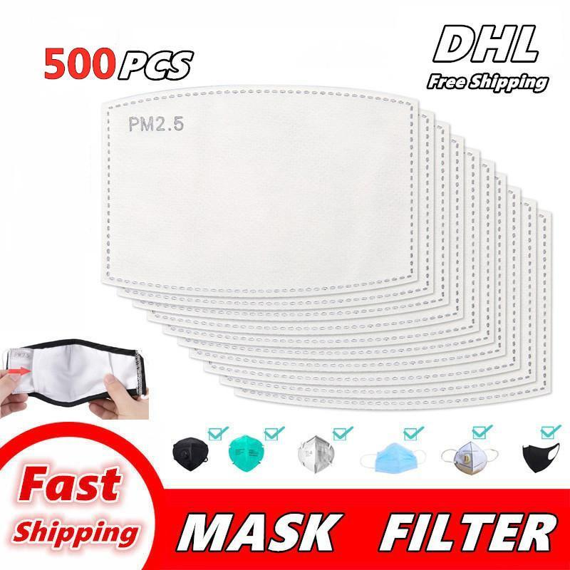 US Stock 5 Layers Filter gasket Breathable Activated Carbon PM 2.5 Mask Filter Paper Pad for Anti Haze Dust Cover Outdoor Work Super