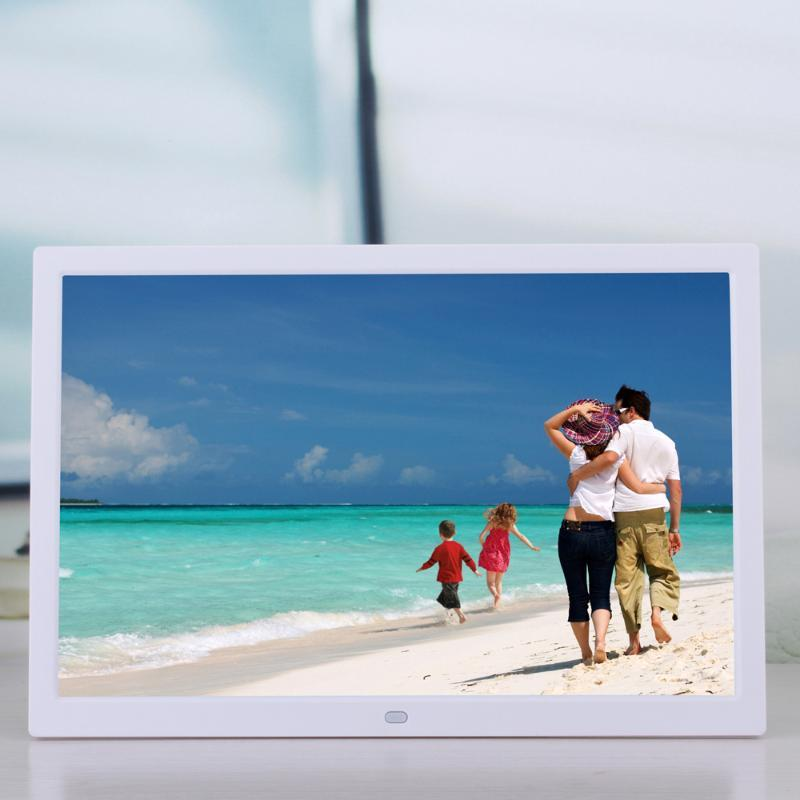 15 Inch LCD High Definition 1280*800 Full Function Digital Photo Frame Electronic Picture Alarm Clock MP3 MP4 Music Player