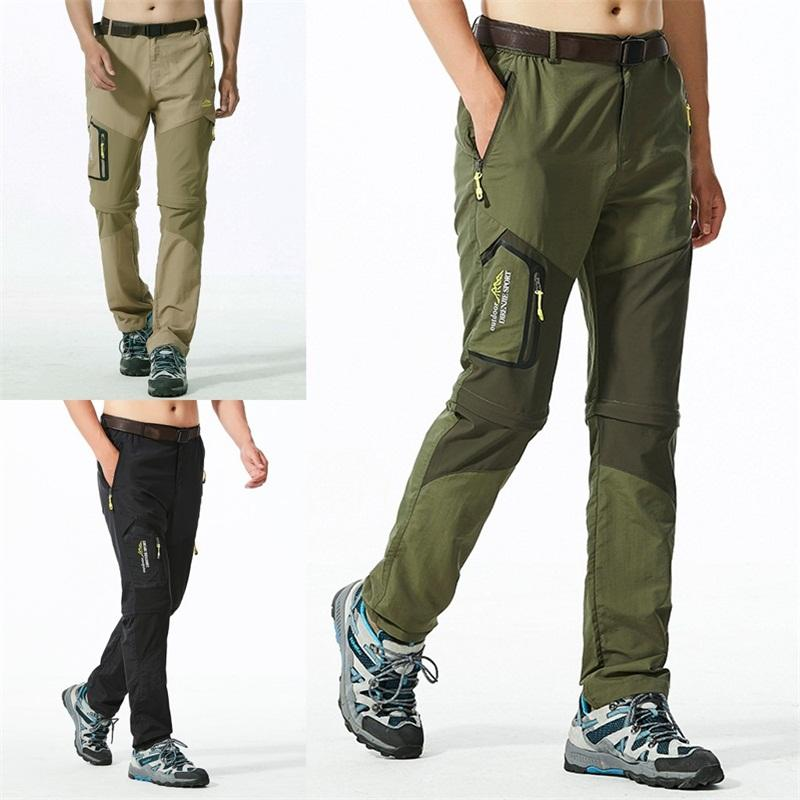 a few days away size 7 reasonably priced 2019 Man Summer Mountain Climbing Pants Outdoor Springy Breathable Trousers  Removable Quick Drying Pant Khaki Black Army Green Soft 55dd D1 From ...