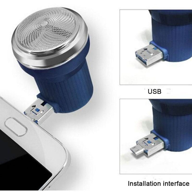 السفر الحلاقة البسيطة USB الهاتف الذكي الحلاقة لالروبوت الهاتف الخليوي في الهواء الطلق المحمولة مايكرو USB آلة الحلاقة الحلاقة الكهربائية